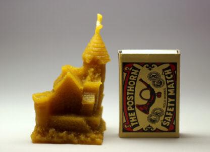 Hrad - svíčka ze včelího vosku