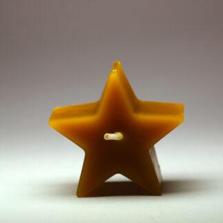Hvězdička - svíčka ze včelího vosku