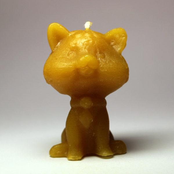 Kočička - svíčka ze včelího vosku