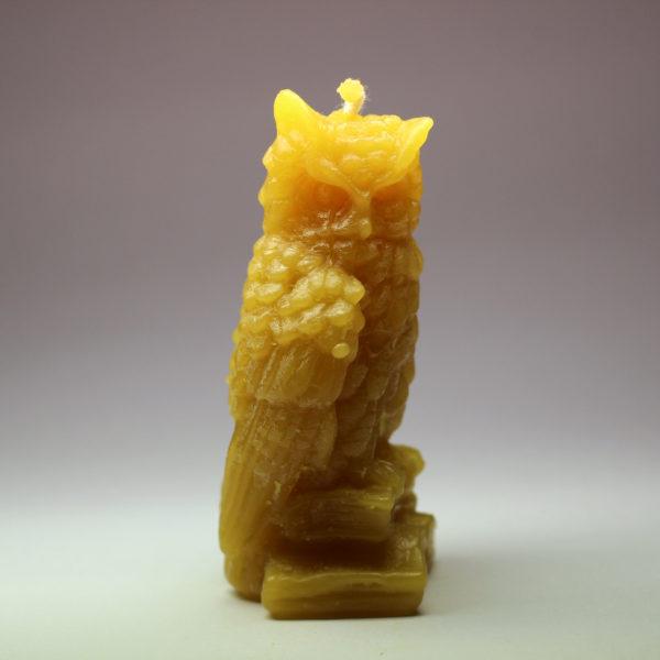Sova - svíčka ze včelího vosku