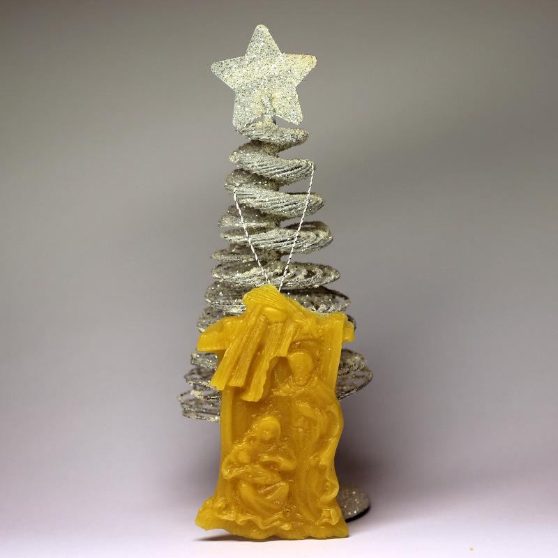 Betlém - vánoční ozdoba ze včelího vosku