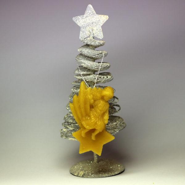 Kometa - vánoční ozdoba ze včelího vosku