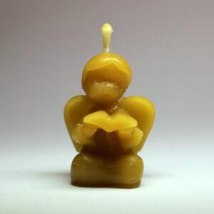 Anděl s knihou - svíčka ze včelího vosku - Martin Vodvářka